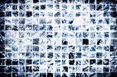 stock photo of ceramic tile  - Ceramic Tile Wall Scratched Background Texture Concept - JPG