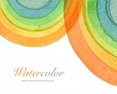 Abstract acrylic and watercolor circle painted background. Texture paper.