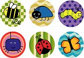 Bugs and butterflies icons
