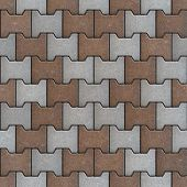 Grey and Brown Bricks. Seamless Texture.