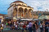 Athens, Greece - September,7 2014. Tzistarakis Mosque In Monastiraki Square.