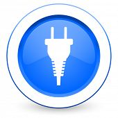 plug icon electric plug sign