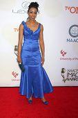 LOS ANGELES - FEB 6:  Morowa Yejide at the 46th NAACP Image Awards Arrivals at a Pasadena Convention Center on February 6, 2015 in Pasadena, CA
