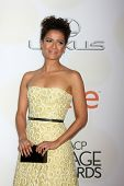 LOS ANGELES - FEB 6:  Gugu Mbatha-Raw at the 46th NAACP Image Awards Arrivals at a Pasadena Convention Center on February 6, 2015 in Pasadena, CA