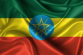 foto of ethiopia  - Realistic flag of Ethiopia - JPG