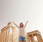 stock photo of parthenon  - The Acropolis of Athens is an ancient citadel located on a high rocky outcrop above the city of Athens and contains the remains of several ancient buildings of great architectural and historic significance - JPG