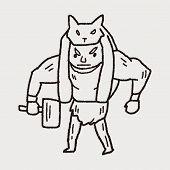 foto of ogre  - Giant Ogre Doodle - JPG
