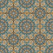 image of geometric  - Arabic geometric ethnic pattern - JPG