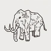 image of mammoth  - Mammoth Doodle - JPG