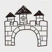 picture of castle  - Castle Doodle - JPG