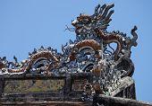 picture of mausoleum  - the Tu duc emperor mausoleum Hue Vietnam - JPG