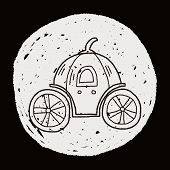 image of cinderella coach  - Pumpkin Carriage Doodle - JPG