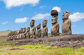 Moais in Easter Island
