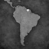 picture of suriname  - Suriname on the map of South America - JPG