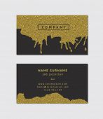 foto of ombre  - Business card with golden detail - JPG