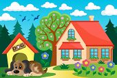 image of dog-house  - House with dog theme 2  - JPG