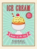 picture of ice cream parlor  - Delicious Ice Cream menu card design on vintage background - JPG