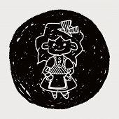 picture of alice wonderland  - Alice In Wonderland Doodle - JPG