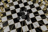 foto of chess piece  - 3d render of chess pieces - JPG