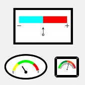 pic of indications  - Set of indicators with colored spectral indicator - JPG