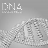 picture of chains  - Chain of spheres with soft shadows in form of helix on the background - JPG