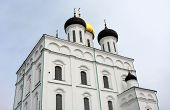 picture of trinity  - Famous Trinity cathedral in the Pskov city Russia - JPG
