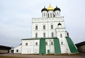 pic of trinity  - Famous Trinity cathedral in the Pskov city Russia - JPG