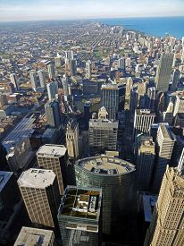 picture of willy  - View on Chicago from the Willis Tower in autumn - JPG