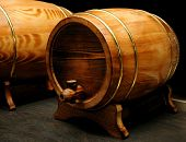 elegant wine barrels