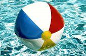 image of beach-ball  - beach ball in pool - JPG