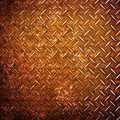 rusty diamond metal background