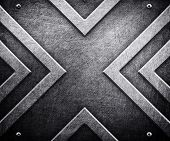 x pattern on metal background