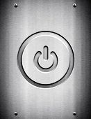 power icon on metal background