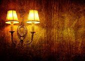 grunge wall lamp