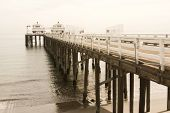 Malibu Pier Stretching Into The Ocean