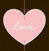 design de cartão de dia dos Namorados