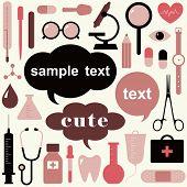 coleção de ícones com temas médicos e sinais de alerta
