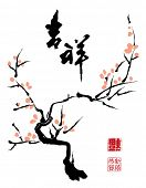 Chinese ink painting of plum tree