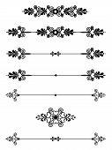 Ornamental Bar Line Divider Rule 9