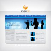 Vector website design template.