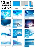 12 in 1 Folder Design Templates