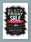 Black Friday Sale, Sale Poster, Sale Banner, Sale Flyer, 3 Days Sale Only, Upto 80% Off, Abstract Sa poster