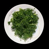 Plate With Chopped Dill