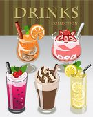 Drinks Collection Vector Illustration