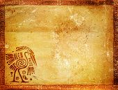 foto of native american ethnicity  - Horizontal background with American Indian traditional patterns - JPG