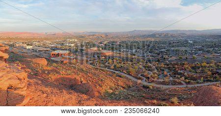 Desert And City Panoramic Views