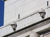 stock photo of mussolini  - Picture representing a typical italian fascist architecture - JPG