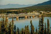 Nisutlin Bay Bridge In Teslin In Yukon North Territory, Larger Then Life, Teslin Bridge On Alaska Hw poster