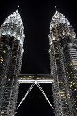 stock photo of petronas twin towers  - Petronas Twin Towers in Kuala Lumpur Malaysia - JPG