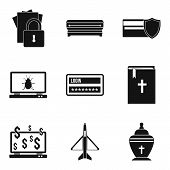 Damage Icons Set. Simple Set Of 9 Damage Vector Icons For Web Isolated On White Background poster
